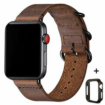 Vintage Leather Bands Compatible with Apple Watch Band 38mm 40mm 42mm 44mm,Genui - $22.44