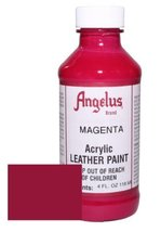 Angelus Acrylic Leather Paint-4oz.-Magenta - $6.20