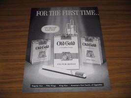 1955 Print Ad Old Gold Cigarettes King Size Filter Regulars  - $15.23
