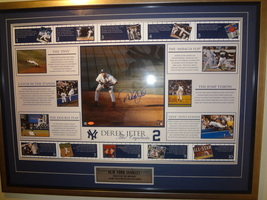 DEREK JETER 16 X 20 STEINER'S SPORTS AUTOGRAPHED COLLAGE PHOTO-NUMBERED ... - $925.00
