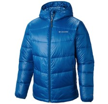 COLUMBIA Mens BIG SIZE 1X Gold 650 TurboDown Hooded Jacket Winter Down Coat - $116.21