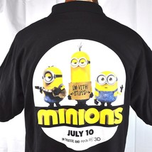 Minions Movie Theater Employee L Polo Shirt Large Mens Promo Regal Real ... - $33.74