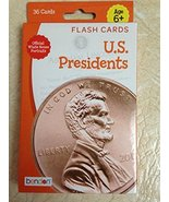 U.S. Presidents Flash Cards Pack of 36 - $10.91