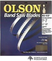 "Olson Wood Band Band Saw Blade 93-1/2"" inch x 1/8"" 8TPI, 14"" Delta, JET,... - $16.99"