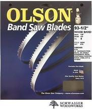 "Olson Wood Band Band Saw Blade 93-1/2"" inch x 1/8"" 8TPI, 14"" Delta, JET,... - $16.99"