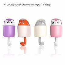 hebensi 4Pcs Adhesive Hooks Cute Cartoon Wall Hooks with Aromatherapy Tablets 4