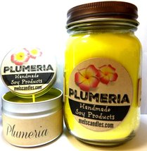 COMBO SET PLUMERIA - 16oz Country Jar Soy Candle and 4oz Soy Candle Tin - $23.00