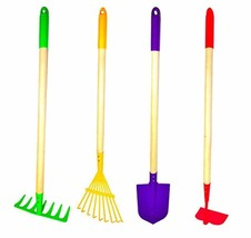 G F Products JustForKids Kids Garden Tool Set Toy, Rake, Spade, Hoe and ... - $21.78