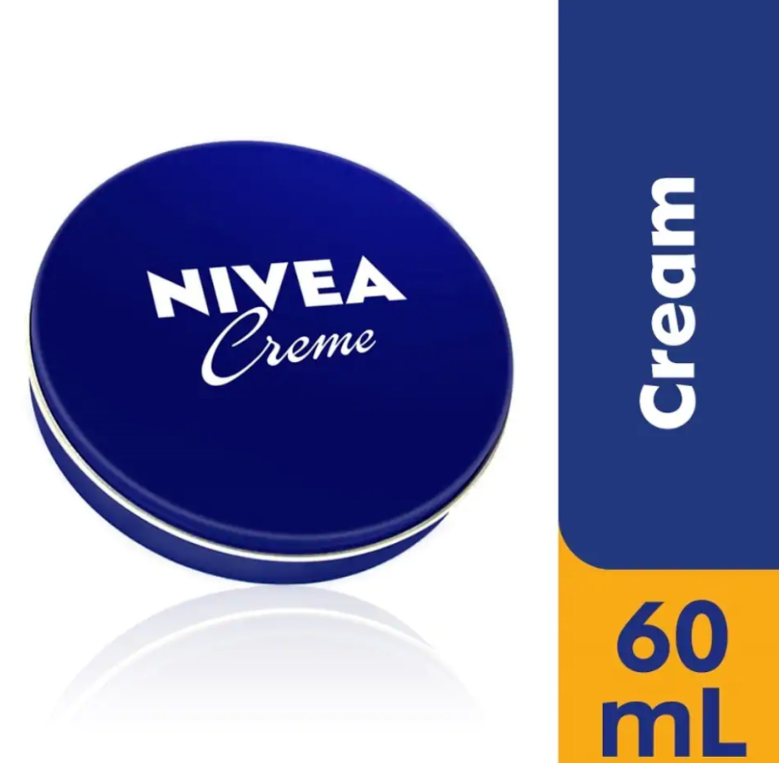 6 Can 60 mL/ 2 oz NIVEA CREAM Skin Hand CREME moisturizer Metal Tin Total 12oz image 2