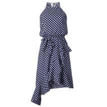 Women's Brand Fashion Halter Polka Dot Wrap Sundress image 3