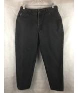 "Riders Black Denim Jeans Size 16 Petite Straight Leg Inseam 27""  High Waist - $18.76"