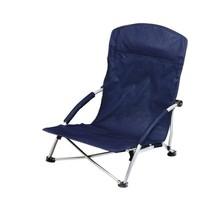 Portable Beach Chair with Headrest Blue Stylish Folding Picnic Durable C... - $45.95