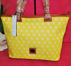 Dooney & Bourke Gretta Yellow Leisure Shopper Tote