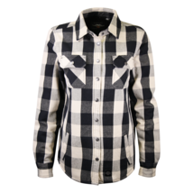 Harley-Davidson Women's Black Cream Sherpa Lined Plaid L/S Woven Shirt J... - $64.00
