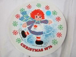 """Vintage 1973 The Schmid Collection Raggedy Ann Christmas Plate 7.5"""" - $14.24"""