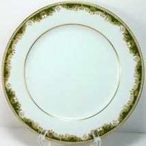 "Noritake Warrington Salad Plate 8.25"" White Green Scrolls Gold Trim 6872 - $7.92"