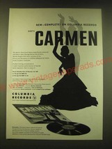 1951 Columbia Records Ad  - complete on Columbia Records Bizet's Carmen - $14.99