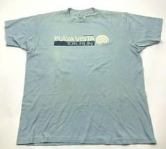 VINTAGE Playa Vista 10K Run Shirt Size Extra Large Blue Tee Short Sleeve... - $17.83