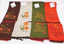 "8 Fall Harvest Autumn Thanksgiving Kitchen Towels 16"" X 26 "" - $53.99"