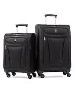 Atlantic Luggage Avion Lite 2 Piece Spinner Set, Black - $106.95