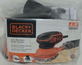 Black Decker BDERO600 5 Inch Random Orbit Sander Orange Black CORDED image 3