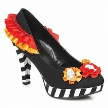 "Ellie 414-DIA Womens Sexy Comfortable 4"" Heel Flower W/Skull Pump 10 M US - $40.10"