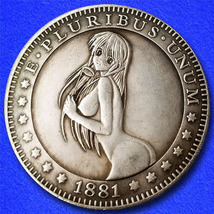 "Sexy Girl 23 ""Hobo Nickel"" on Morgan Dollar Coin ** - $3.79"