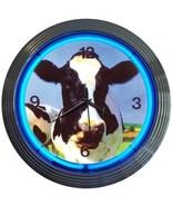 "Cow Art Light Neon Clock 15""x15"" - $59.00"