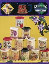 Mug Shots Inserts Tea Coffee Teacher Hubby Troll Pig Cross Stitch Patter... - $1.32