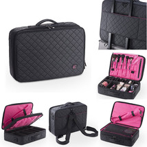 On The Go Makeup Train Case Cosmetic Travel Storage Organizer Bag - $34.99
