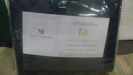 Sweet Home Collection Full 6 Piece Sheet Set – Garrin - Navy - $23.00