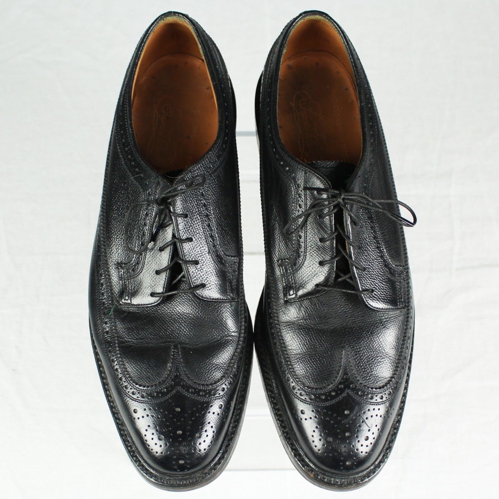 VINTAGE FLORSHEIM IMPERIAL 92604 5~NAIL/V~CLEAT LONGWING OXFORDS SIZE 9 D!