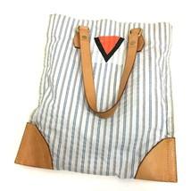 AUTHENTIC LOUIS VUITTON Canvas Striped Tote Bag White/Blue M40024 - €341,92 EUR