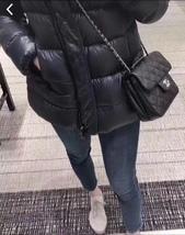 AUTH BNIB CHANEL 2018 DARK NAVY QUILTED CAVIAR LARGE MINI FLAP BAG RECEIPT  image 6