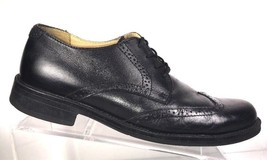 BASS Oxfords Men's S-10 M Winston Black Leather Wing Tip Brogue Dress Shoes - $40.00