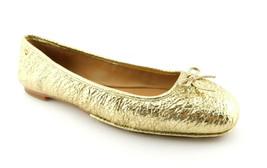 New Tory Burch Size 8.5 Laila Gold Foil Ballet Flats Shoes 8 1/2 - $109.00