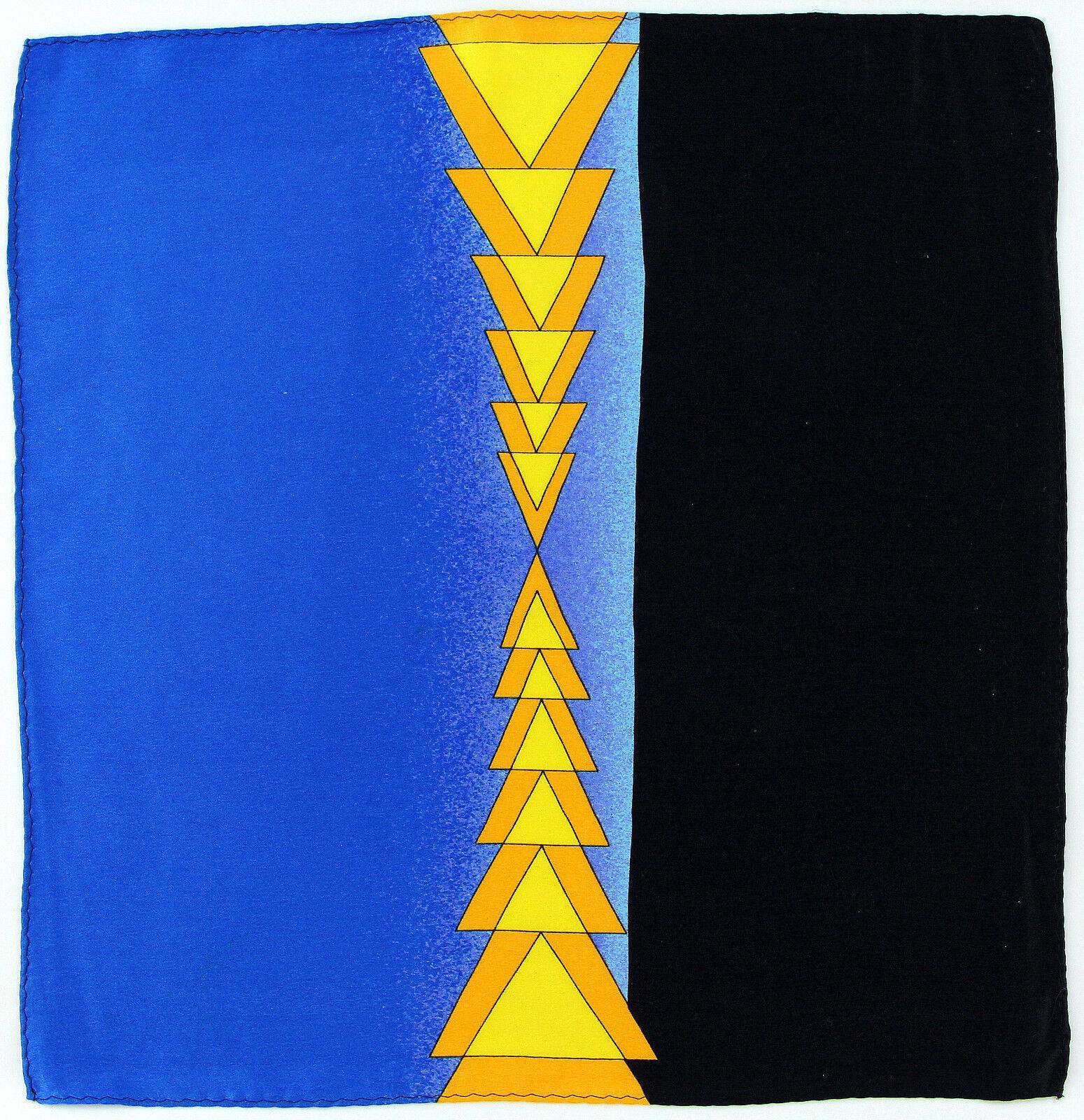 Men's Pocket Square Handkerchief Wedding Fashion Dress Arrows Silk Blue Hanky
