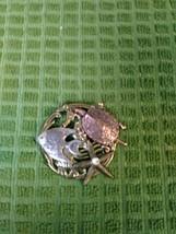 Unique Decorative Pin Copper Tone Turtle, Starfish W/Diamond, Angel Fish Silver  image 1