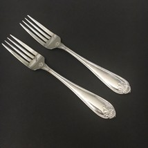 Two - 2 -  Oneida Northland ROYAL SHELL Glossy Stainless Flatware Dinner Forks - $13.09