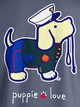 Puppie Love Rescue Dog Adult Unisex Short Sleeve Graphic T-Shirt, Marine Pup image 2