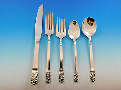 Primary image for Mansion House by Heirloom Oneida Sterling Silver Flatware Set 8 Service 41 pcs