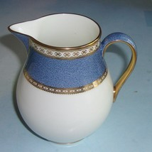 WEDGWOOD China ULANDER POWDER BLUE Creamer/Pitcher Mint - $85.00