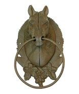 Cast Iron -Horse Head Towel Ring Holder / Hitching Post Western Decor - $29.69