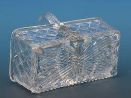 Antique EAPG Pressed Glass Open Salt Double Basket image 3