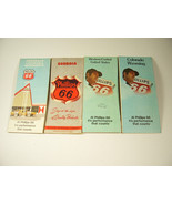 4 Vintage Phillips 66 Petroleum Oil Company Gas Station Road Maps 1956 -... - $2.50