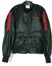 "VTG Honda Black Nylon Satin Hondaline XS Jacket 1970s ""Follow The Leader"" - $63.35"