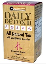 Daily Detox All Natural Tea, Decaffeinated Passion Fruit Green Tea, 30 C... - $11.99