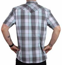 Levi's Men's Cotton Casual Button Up Short Sleeve Shirt Plaid Gray 3LYLW6082 image 3