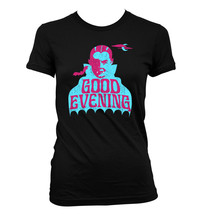Good Evening Dracula Retro #339 - Women's T-Shirt - Funny Humor Comedy Halloween - $24.99