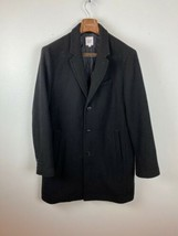 Gap Mens Coat XL Black Peacoat Wool Blend - $98.99